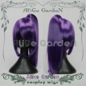 Gin Tama Death Note Purple Long Cosplay Wig Costume Wigs