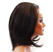 HANDSEWN SYNTHETIC FRENCH LACE FRONT FULL HAIR WIG Colour Medium Brown # 3 + Auburn # 33