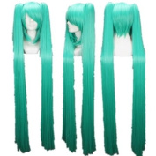 Vocaloid Series Wig Long Green Cosplay Wig Costume Wigs lacefront wig party wig Lacefront Wig