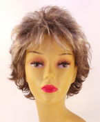 Short Silver Grey Wig - Quality Kanekalon Synthetic Hair Loss Replacement Natural Looking Fashion for Ladies & Girls
