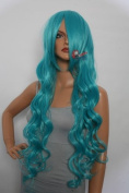 Epic Cosplay Hera Vocaloid Green Curly Wig 100cm