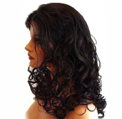 HANDSEWN SYNTHETIC FRENCH LACE FRONT FULL HAIR WIG Colour Dark Brown Colour # 2