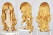 Cosplayland C369- 70CM Wave long Heat-Resistant Fairy like real Hair Wig - Blond