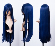 Cosplayland C617 - 80cm dark Blue Volume Straight natural silky heat stylable Wig