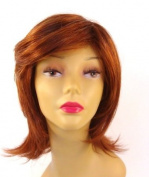 Short Auburn Red Wig - Quality Kanekalon Synthetic Hair Loss Replacement Natural Looking Fashion for Ladies & Girls