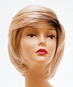 Short Blonde with Roots Wig - Quality Kanekalon Synthetic Hair Loss Replacement Natural Looking Fashion for Ladies & Girls