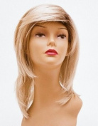 Shoulder Length Blonde with Roots Wig - Quality Kanekalon Synthetic Hair Loss Replacement Natural Looking Fashion for Ladies & Girls