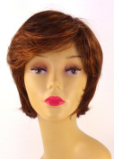 Short Red Auburn Wig - Quality Kanekalon Synthetic Hair Loss Replacement Natural Looking Fashion for Ladies & Girls