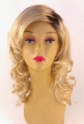 Long Blonde with Roots Wig - Quality Kanekalon Synthetic Hair Loss Replacement Natural Looking Fashion for Ladies & Girls
