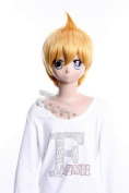 Lacefront half wig shine brown wig of Magi Alibaba cute style party wig for men for women