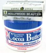 Hollywood Beauty Cocoa Butter with Vitamin-E 220ml (3-Pack) with Free Nail File
