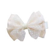 Cream Butterfly Bow Clip, Beautiful Gifts for Girls