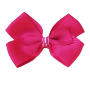 Hot Pink Bowtie Ribbon Clip, Beautiful Gifts for Girls