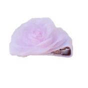 Tiny Pink Rose Ribbon Clip, Beautiful Gifts for Girls