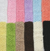 3.8cm Crochet Headband Variety Pack in Basic Pastel Colours