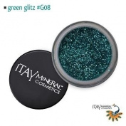 Itay Beauty Mineral cosmetic face and body glitter Colour Green Glitz G08