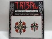 Tribal Temporary Tattoos - Rose Cross Theme