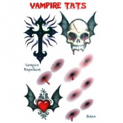 Vampire 2 Tats Temporary Tattoo Kit