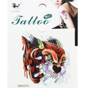 GGSELL Waterproof and sweat tattoo sticker colour tiger head boys applicable