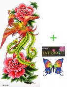YiMei temporary tattoos waterproof sexy phoenix flowers Beauty influx of goods