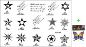 2012 latest new design new release temporary tattoo waterproof men and women of the black-and-white star shape Totem Tattoo stickers