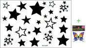 2012 latest new design hot selling Male and female tattoo stickers waterproof stars star fake tattoo