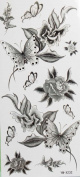 GGSELL Black flowers and butterfly temporary tattoos