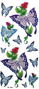 GGSELL YiMei Fake tattoos Butterfly Rose Tattoo stickers waterproof