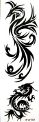 GGSELL YiMei temporary tattoos waterproof latest trend of the Black dragon phoenix
