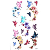 GGSELL King Horse Cute sexy tattoo stickers waterproof female colour butterfly roses