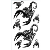 GGSELL King Horse Hot selling waterproof tattoo stickers men and women fashion sexy black scorpion