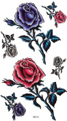 GGSELL King Horse Men and women sexy waterproof tattoo sticker colour roses ultimate embellishment