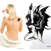GGSELL King Horse Waterproof non-toxic devil angel temporary tattoo sticker