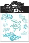 Honu Swirl Temporary Tattoos