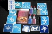 Medium Party Rainbow Glitter Tattoo Kit - Face Paint & Henna addition!
