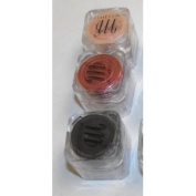 MicaBella Mineral Make Up 3 Item Eyeshadow Shimmer Set #77 Ebony, #10 Tango, #72 Earth 1.75 Grammes Each