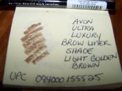 Avon Ultra Luxury Brow Liner Eye Brow Pencil Light Golden Brown