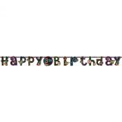 Neon Girl Jumbo Add-An-Age Jumbo Letter Banner