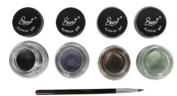 4 Starry Long Lasting Waterproof Eyeliner Gel Black Asphalt, Brown, Violet and Iguana Green