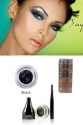 "Mica Beauty Cosmetics Mineral Makeup Gel Eyeliner Black + Aviva Shimmer Eye Shadow 3 stacks ""Green Eyes"""