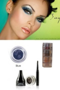 "Mica Beauty Cosmetics Mineral Makeup Gel Eyeliner Blue + Aviva Shimmer Eye Shadow 3 stacks ""Green Eyes"""