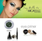 Mica Beauty Cosmetics Mineral Makeup Gel Eyeliner Green + Eye Primer + Aviva Eco Nail File