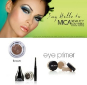 Mica Beauty Cosmetics Mineral Makeup Gel Eyeliner Marron + Eye Primer + Aviva Eco Nail File