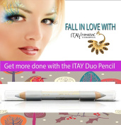 "ITAY Mineral Cosmetics Eye Liner Duo Pencil ""Titanium"" - DP02 Beautiful Creamy very smooth Mineral Pencil for"