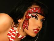 Xotic Eyes Hooked Glitter Professional Eye Make up Costume Accessory