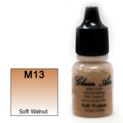 Airbrush Makeup Foundation Matte Finish M13 Soft Walnut Water-based Makeup Long Lasting All Day Without Smearing Running, Fading or Caking 5ml Bottle By Glam Air