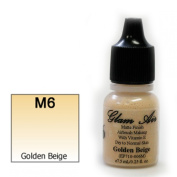 Airbrush Makeup Foundation Matte Finish M6 Golden Beige Water-based Makeup Long Lasting All Day Without Smearing Running, Fading or Caking 5ml Bottle By Glam Air