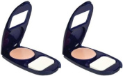 Covergirl Smoothers Aquasmooth Compact Foundation, Natural Ivory 715, 10ml, 2 Ea