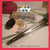 Micabella Mineral Makeup Foundation #Mf1 Porcelain +5stacks Tropical +Brush