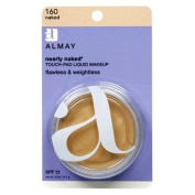 Almay Nearly Naked Touch-Pad Liquid Makeup with SPF 12, Naked 160, 15ml Package